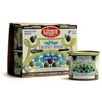 Clement Faugier - Gourmet Chestnut Spread from France 4 mini cans 4x3.5oz (4 PACK)