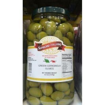 Supremo Italiano: Green Cerignola Olives 4.2 Lb. (2 Pack)