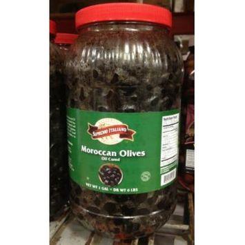 Supremo Italiano Oil Cured Moroccan Olives 1 Gallon
