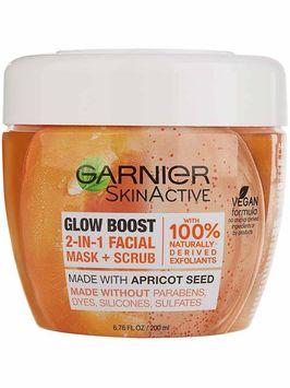Garnier SkinActive Glow Boost 2-in-1 Facial Mask and Scrub