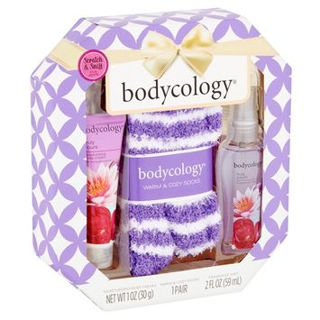 Bodycology Truly Yours Body Cream, Fragrance Mist and Warm Socks Gift Set, 3 pcs