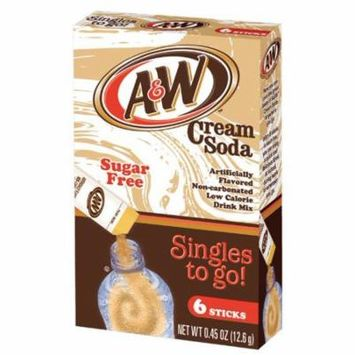 A&W Cream Soda Drink Mix Singles To Go! 6-ct box