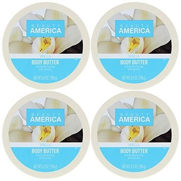 Beauty America Intense Moisturizing Body Butter - Vanilla, 4 pack [Vanilla]