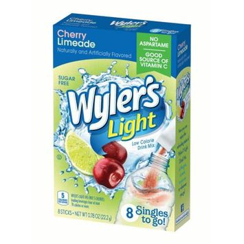 Jel Sert Wyler's Light Singles To Go! Sugar Free Drink Mix, Cherry Limeade, 0.78 Oz, 8 Count Box, Pack of 12