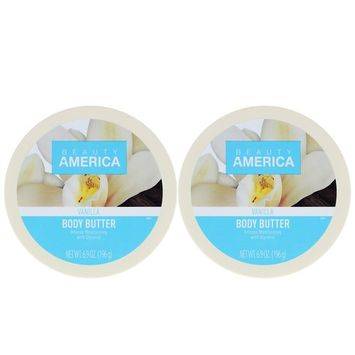 Beauty America Intense Moisturizing Body Butter - Vanilla, 2 pack [Vanilla]