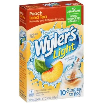 Wyler's Singles To-Go Drink Mix, Peach tea, .59 Oz, 10 Packets