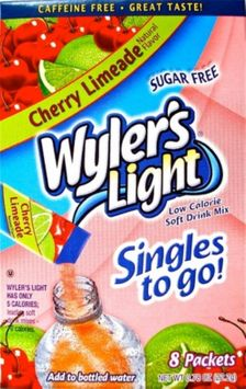 The Jel Sert Company WYLERS LIGHT 8CT POWDERED DRINK SINGLES TO GO - CHERRY LIMEADE