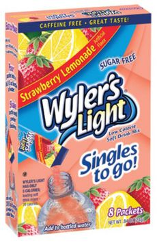 The Jel Sert Company WYLERS LIGHT 8CT POWDERED DRINK SINGLES TO GO - STRAWBERRY LEMONADE