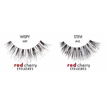 Red Cherry False Eyelashes #WSP (Pack of 3) & Red Cherry False Eyelashes #43 (Pack of 3)