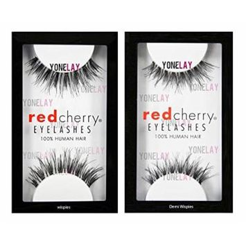 Red Cherry False Eyelashes #WSP (Pack of 3) & Red Cherry #DW False Eyelashes (Pack of 3 Pairs)