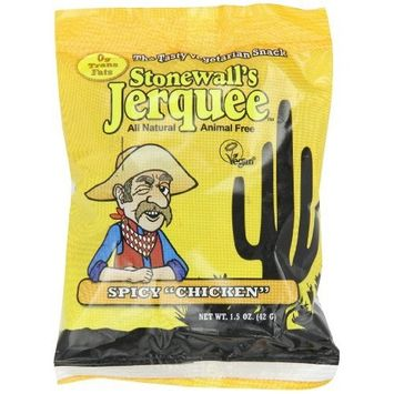 Stonewall's Jerquee, Spicy Chicken, 1.5-Ounce Packets (Pack of 16)