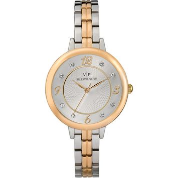 Timex - Viewpoint by Timex Women's 34mm Two-Tone Bracelet Watch [name: actual_color value: actual_color-two-tone]