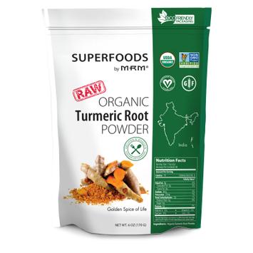 Mrm Metabolic Response Modifiers Super Foods - Raw Orgainc Turmeric MRM (Metabolic Response Modifiers) 6 oz Powder