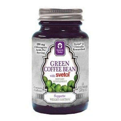 Genesis Today Green Coffee Bean With Svetol Veggie Capsules 60 Ea
