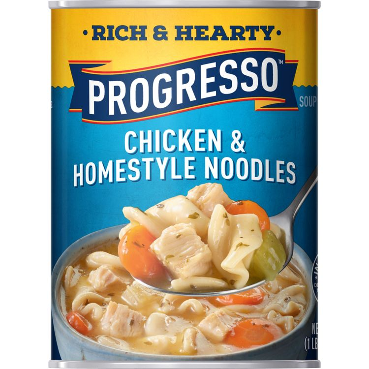 Progresso Rich and Hearty Chicken and Homestyle Noodles Soup, 19 oz