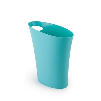 Umbra Skinny Trash Can, Sleek & Stylish Small Bathroom Trash Can, 2 Gallon Capacity [name: actual_color value: actual_color-blue]