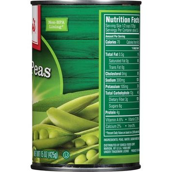 Libby's Sweet Peas, 15-Ounce Cans (Pack of 12)