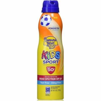 2 Pack - Banana Boat Kids Sport Continuous Sunscreen Lotion Spray SPF 50+ 6 oz