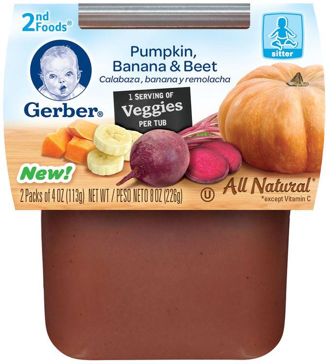Gerber® 2nd Foods® Pumpkin, Banana & Beet Puree