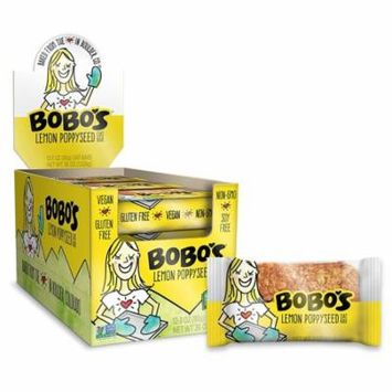 Bobo's Lemon Poppyseed Oat Bars 3 oz Bags - Pack of 12