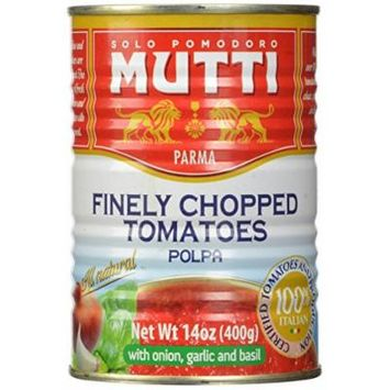 Mutti Finely Chopped Tomatoes, Polpa with Onion, Garlic and Basil, 1 Pound (Pack of 12)