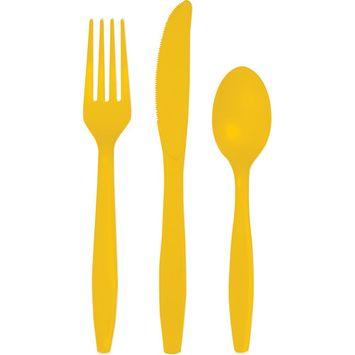 Schoolbus Yellow Cutlery Assortment/Case of 216