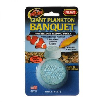 Zoo Med Plankton Banquet Fish Feeding Block Giant - 1 Pack