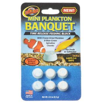 Zoo Med Aquatic Plankton Banquet Time Release Feeding Block Mini - 6 Pack - (3-4 Days Each)