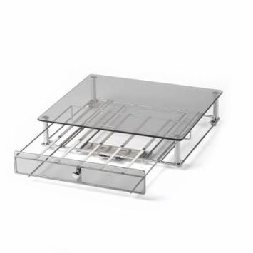 Keurig Approved Glass Top Rolling Drawer - Glass Front