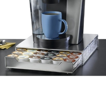 Nifty 36 Capacity Under-the-Brewer Drawer for K-Cup - Stainless Steel