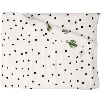 Bebe au Lait Oh So Soft Muslin Snuggle Blanket, Saguaro and Dottie