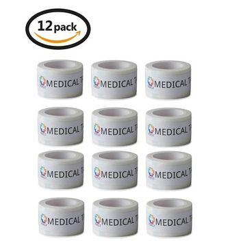 Vakly Paper Surgical Tape - 1 inch x 10 yards (12 Pack)