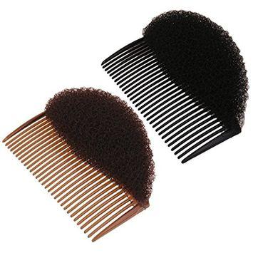 MagiDeal 2 Pieces Fashion Hair Accs Volume Bouffant Beehive Shaper Bump Foam On Comb