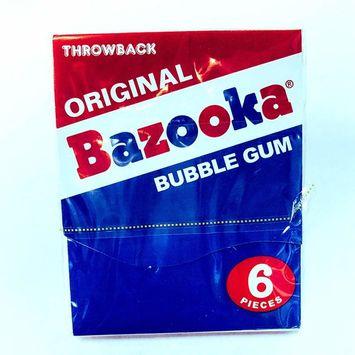 ORIGINAL BAZOOKA BUBBLE GUM WITH COMICS 6PC