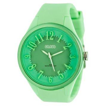 Women's Crayo Burst Watch with Silicone Strap Watch