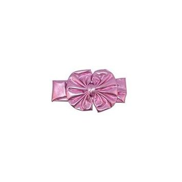 Unique Baby Baby-Girls Metallic Headband with Bow (Pink)
