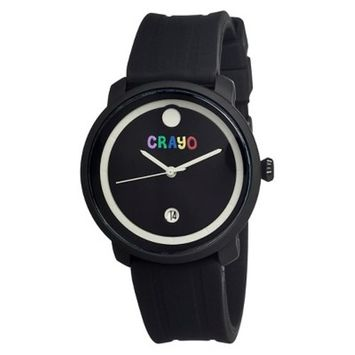 Women's Crayo Fresh Watch with Hinged Rubber Strap