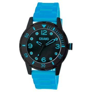 Women's Crayo Splash Watch with Silicone Strap