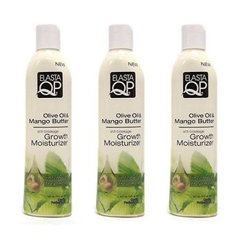 (PACK OF 3) ELASTA QP Olive Oil & Mango Butter Anti-Breakage Growth Moisturizer : Beauty