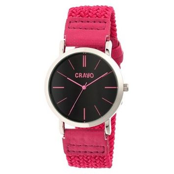 Women's Crayo Symphony Watch with Braided Nylon Strap