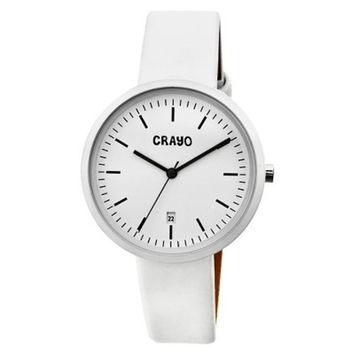 Women's Crayo Easy Watch with Leather Strap