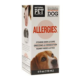 Allergies for Dog KingBio Natural Pet 4 oz Liquid