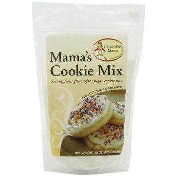 Gluten Free Mama, Mama's Cookie Mix, Sugar Cookie Mix, 15-Ounce Pouches (Pack of 5)