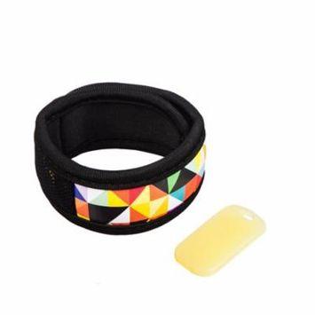 Geometric Neoprene Mosquito Repellent Wristband with 2 refills