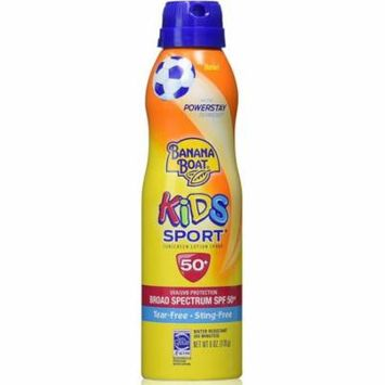 3 Pack - Banana Boat Kids Sport Continuous Sunscreen Lotion Spray SPF 50+ 6 oz