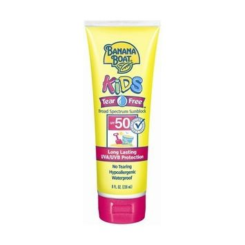 Banana Boat Kids Tear Free Lotion SPF 50 Sunscreen, 8 oz (Quantity of 3)