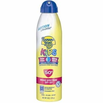 Banana Boat Kids Continuous Spray Sunscreen, SPF 50+, Fragrance Free, Water Resistant, 6 Oz + Makeup Blender Stick, 12 Pcs