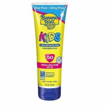 Banana Boat Kids UVA/UVB Protection Sunscreen Lotion, Broad Spectrum, SPF 50, 8 Oz + Makeup Blender Stick, 12 Pcs