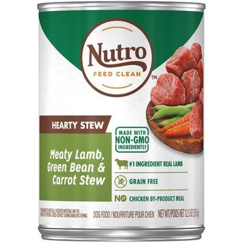 Nutro Feed Clean™ Hearty Stew Meaty Lamb, Green Bean & Carrot Stew Dog Food