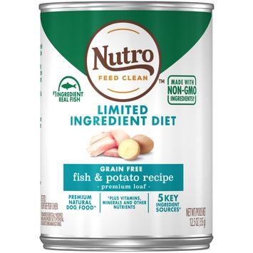 Nutro Feed Clean™ Limited Ingredient Diet Grain Free Fish & Potato Recipe Premium Loaf Dog Food